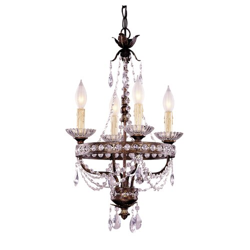 4 Light Mini Chandelier