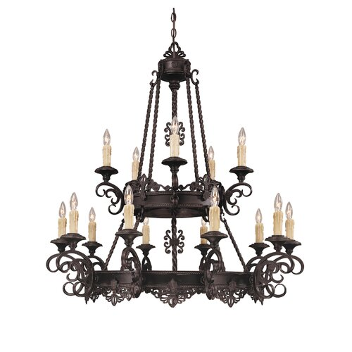 Upper Gull 15 Light Chandelier