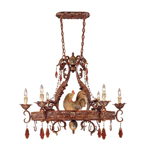 Rabun Chandelier Pot Rack with 6 Light