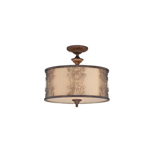 Wildon Home ® Aeryn 3 Light Semi Flush