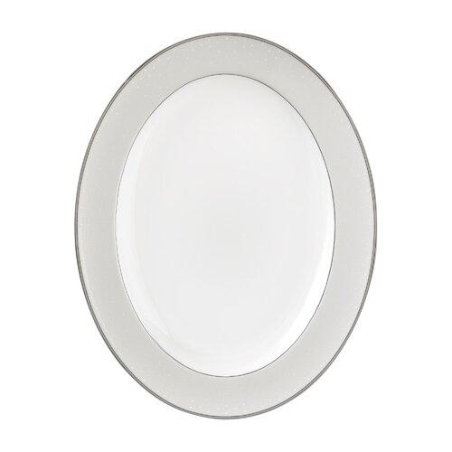 "Waterford Pointe D'Esprit 13.5"" Oval Platter"