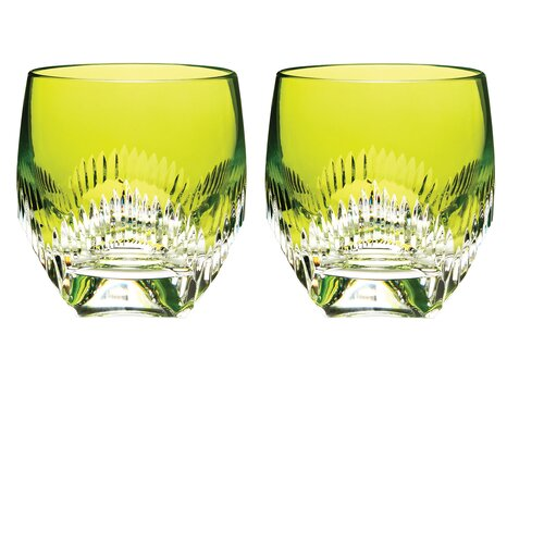 Neon Double Old Fashioned Glass (Set of 2)