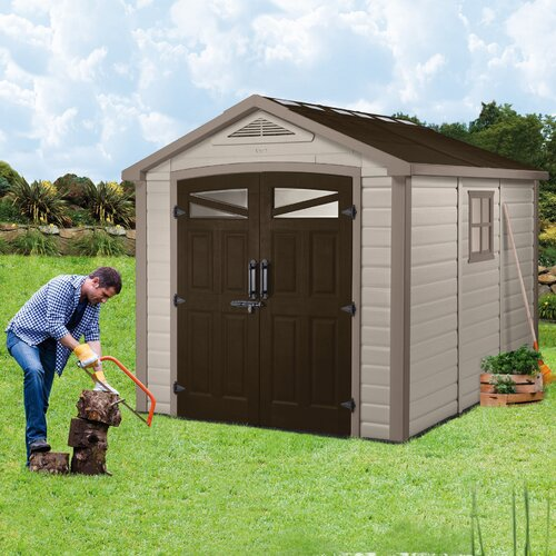 "Keter Orion 8ft.4.5"" W x 9ft.5"" D Resin Storage Shed"