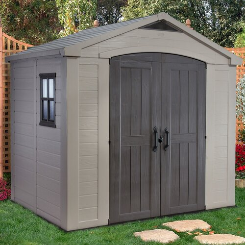 Keter Factor 8.42ft. W x 6ft. D Resin Tool Shed