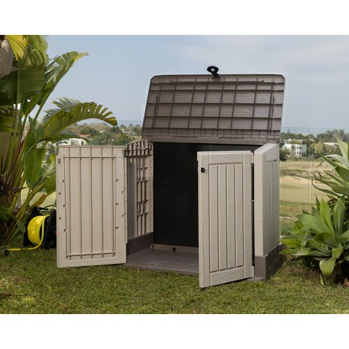 Keter Woodland 4.42ft.  x 2.42ft. Resin Tool Shed