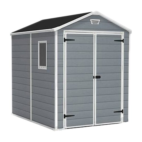 """Keter Manor 6'1.1"""" W x 7'9.2"""" D Plastic Tool Shed"""