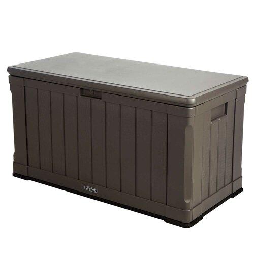 Lifetime 116 Gallon Plastic Deck Storage Box Amp Reviews