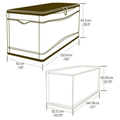 Lifetime HDPE Polyethylene Plastic Deck Box