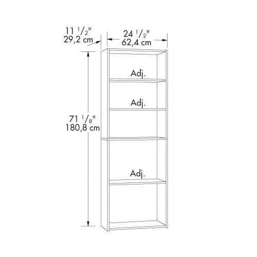 "Sauder Beginnings 71"" Bookcase"