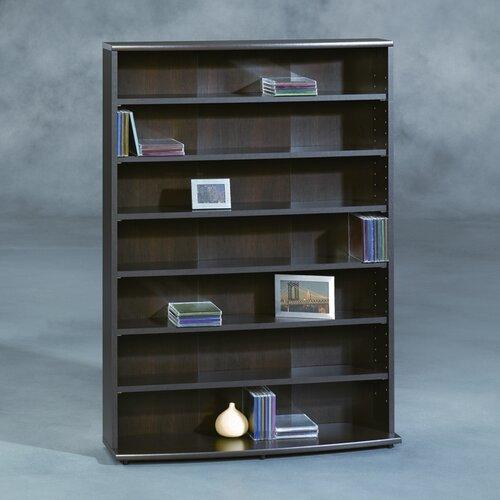 sauder multimedia storage rack reviews wayfair. Black Bedroom Furniture Sets. Home Design Ideas