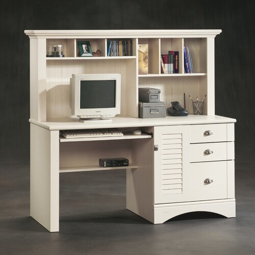 Sauder Harbor View Computer Desk with Hutch I