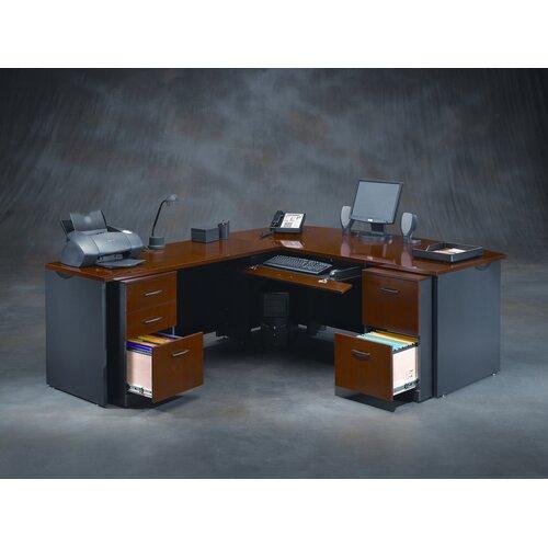 Sauder Via L-Shape Executive Desk Office Suite