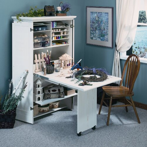 "Sauder Harbor View 35.5"" Craft Combination Cabinet & Reviews 