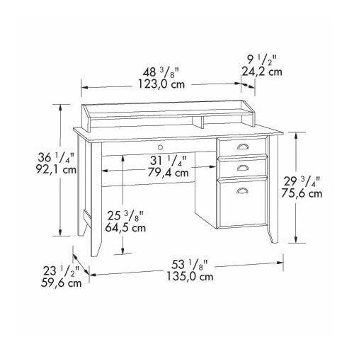 "Sauder 36.25"" Shoal Creek Writing Desk"