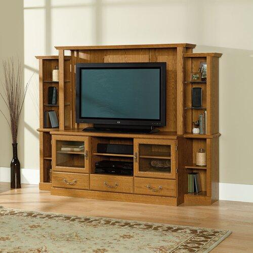 Sauder orchard hills entertainment center reviews wayfair for Wallpaper home center