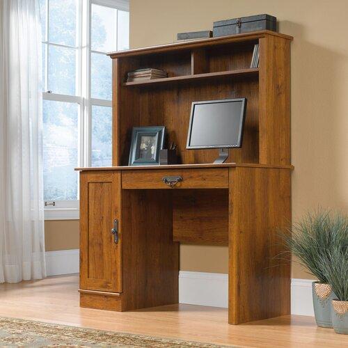 Sauder Harvest Mill Computer Desk with Hutch