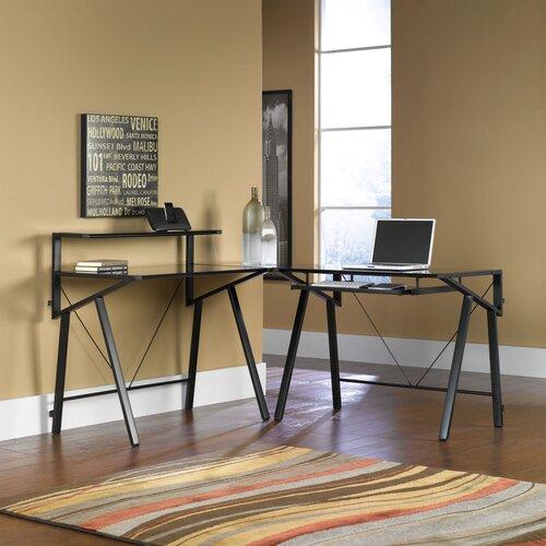 Sauder Vector Studio Edge L-Shaped Computer Desk