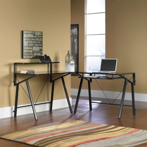 Sauder Vector Studio Edge L-Shaped Computer Desk