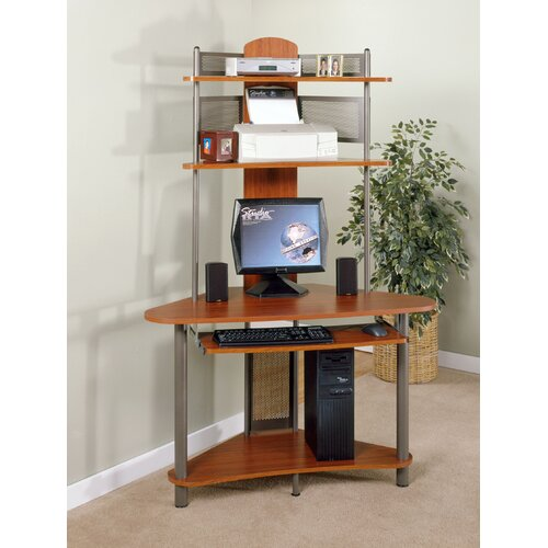 A-Tower Computer Desk with Hutch