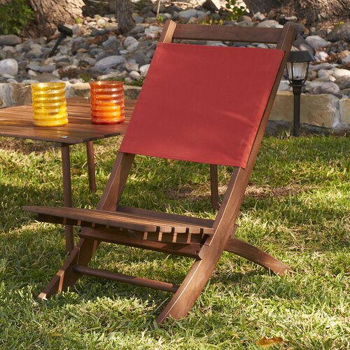 Wildon Home ® Cambridge Folding Picnic Chair with Red Canvas