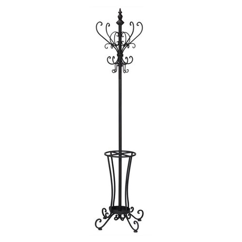 Wildon Home ® Iron Coat Rack with Umbrella Stand