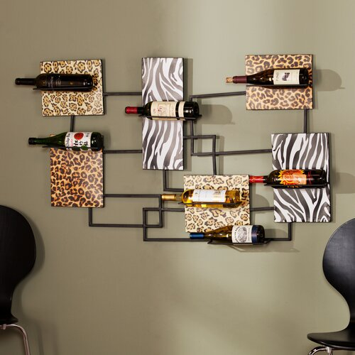 Mandy 7 Wine Bottle Wall Mount Wine Rack
