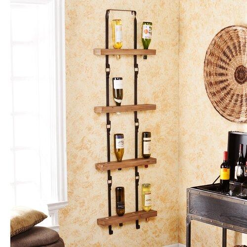 Hadley 16 Wine Bottle Wall Mount Wine Rack
