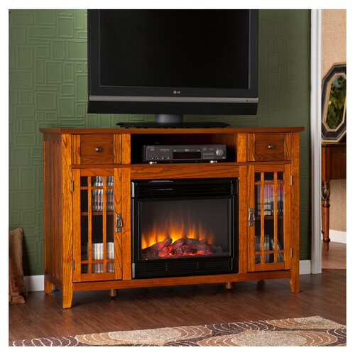 """Wildon Home ® Breevort 52"""" TV Stand with Electric Fireplace"""