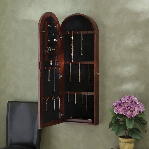 Wildon Home ® Fenwick Wall Mounted Jewelry Armoire with Mirror