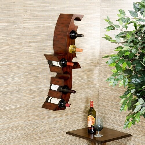 Wildon Home ® Cresent 8 Bottle Wall Mounted Wine Rack