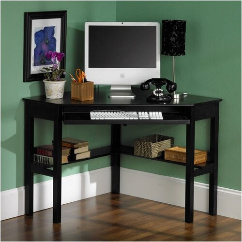 Wildon Home ® Parson Shelby Corner Desk in Black