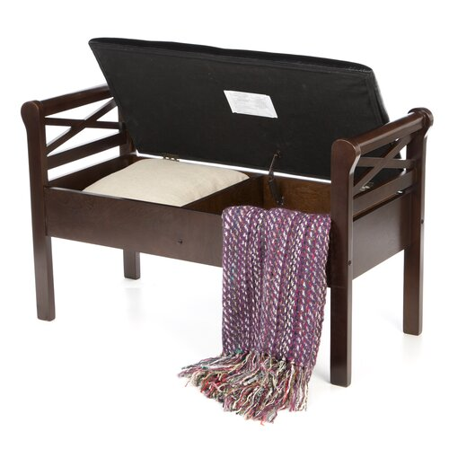Wildon Home ® Allensworth Entryway Storage Bench in Espresso/Black