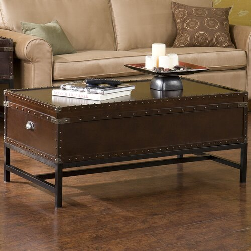 Wildon Home ® Southport Trunk Coffee Table with Lift-Top