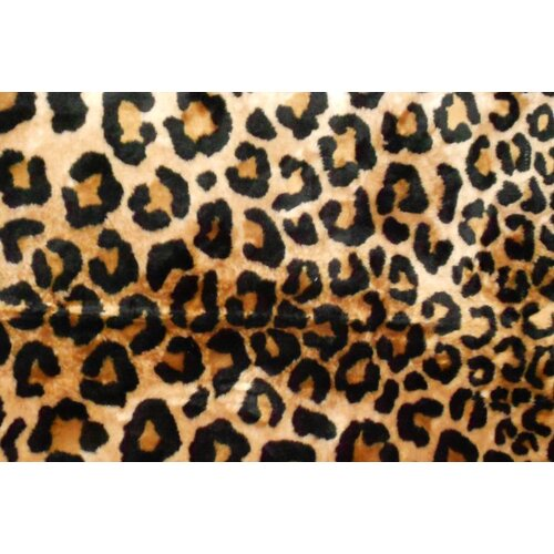 Walk On Me Animal Black/Brown Leopard Area Rug