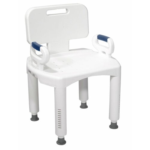 Premium Series Bath Bench with Back and Arms
