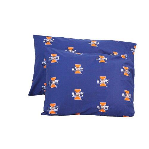 NCAA Illinois Pillowcase (Set of 2)