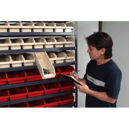 "Quantum Storage Economy Shelf Storage Units (39"" H x 36"" W x 12"" D) with Bins"