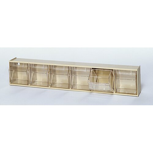 Quantum Storage Clear Tip Out Bins (6 Compartments)
