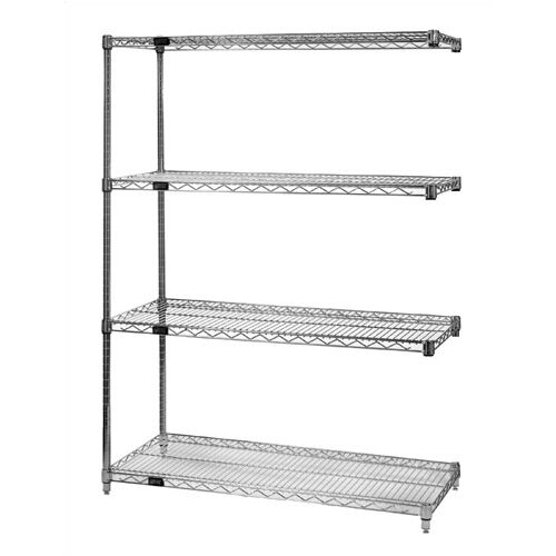 "Quantum Storage Large 54"" Q-Stor Chrome Wire Shelving Add-On Unit"