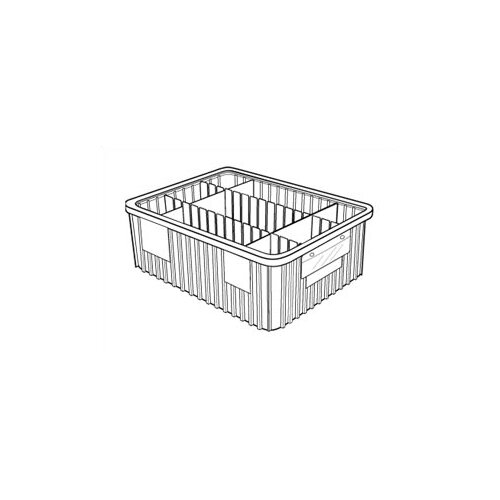 "Quantum Storage Dividable Grid Storage Containers (3 1/2"" H x 10 7/8"" W x 16 1/2"" D)"