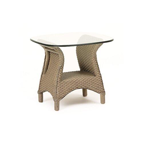 Lloyd Flanders Mandalay Glass Top Side Table