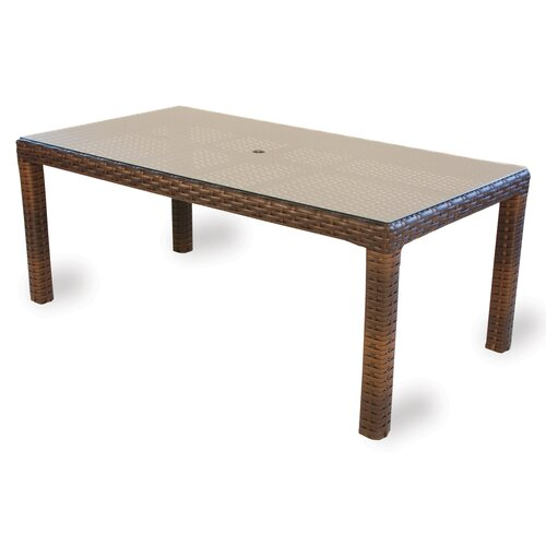 Contempo Rectangle Umbrella Dining Table