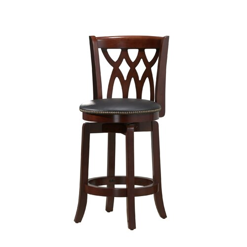 "Boraam Industries Inc Cathedral 24"" Swivel Bar Stool with Cushion"