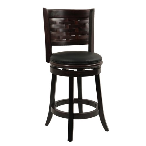 "Boraam Industries Inc Sumatra 24"" Swivel Bar Stool with Cushion"