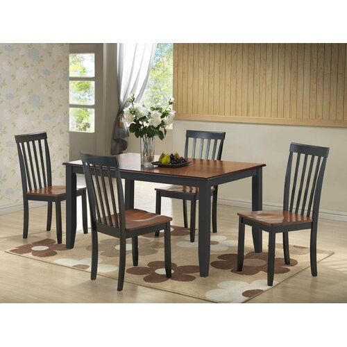 Napa 9 Piece Dark Cherry Finish Formal Dining Room Table: Boraam Bloomington 5 Piece Dining Set & Reviews