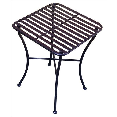 Pangaea Home and Garden Folding Iron Square Side Table