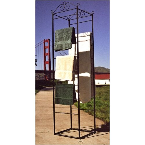 Pangaea Home and Garden Free Standing Blanket/Magazine/Towel Rack