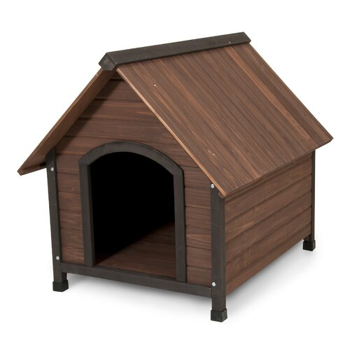 Aspen Pets Ruff Hauz Wood Peak Dog House