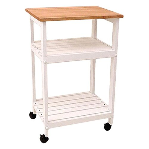Catskill Craftsmen, Inc. Cottage Microwave Cart with Butcher Block Top