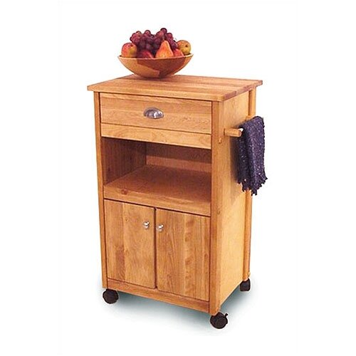 Catskill Craftsmen, Inc. Modified Cuisine Kitchen Cart with Butcher Block Top